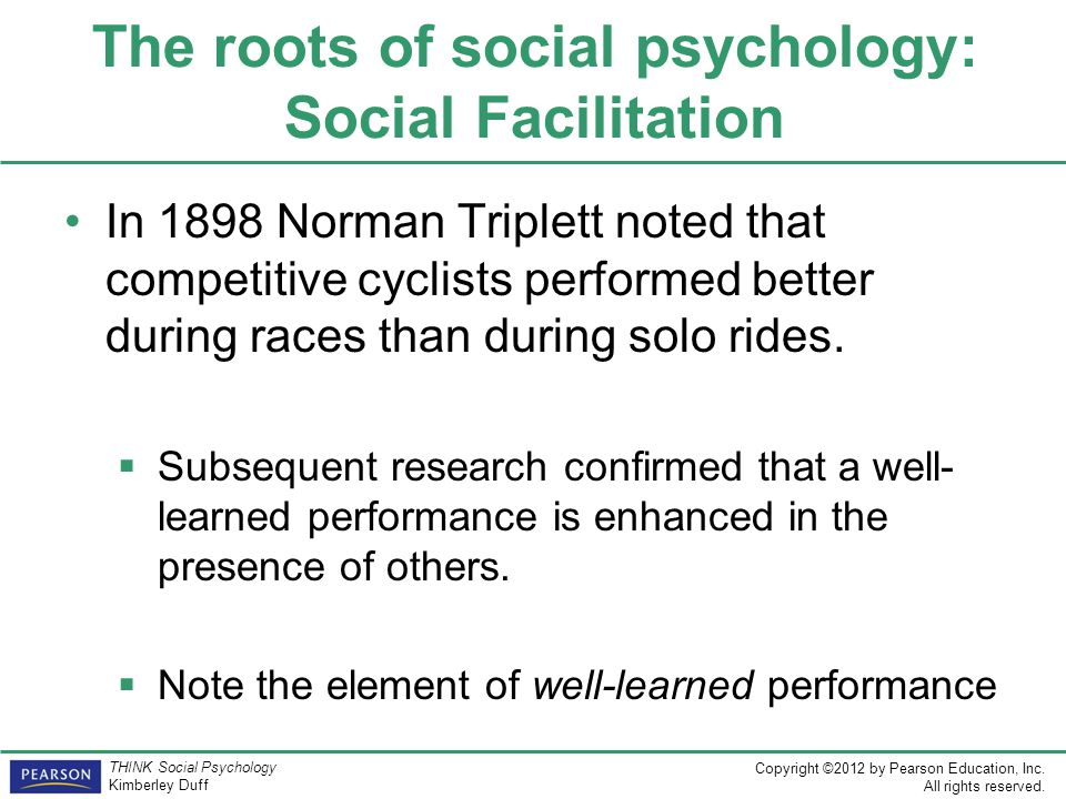 The roots of social psychology: Social Facilitation
