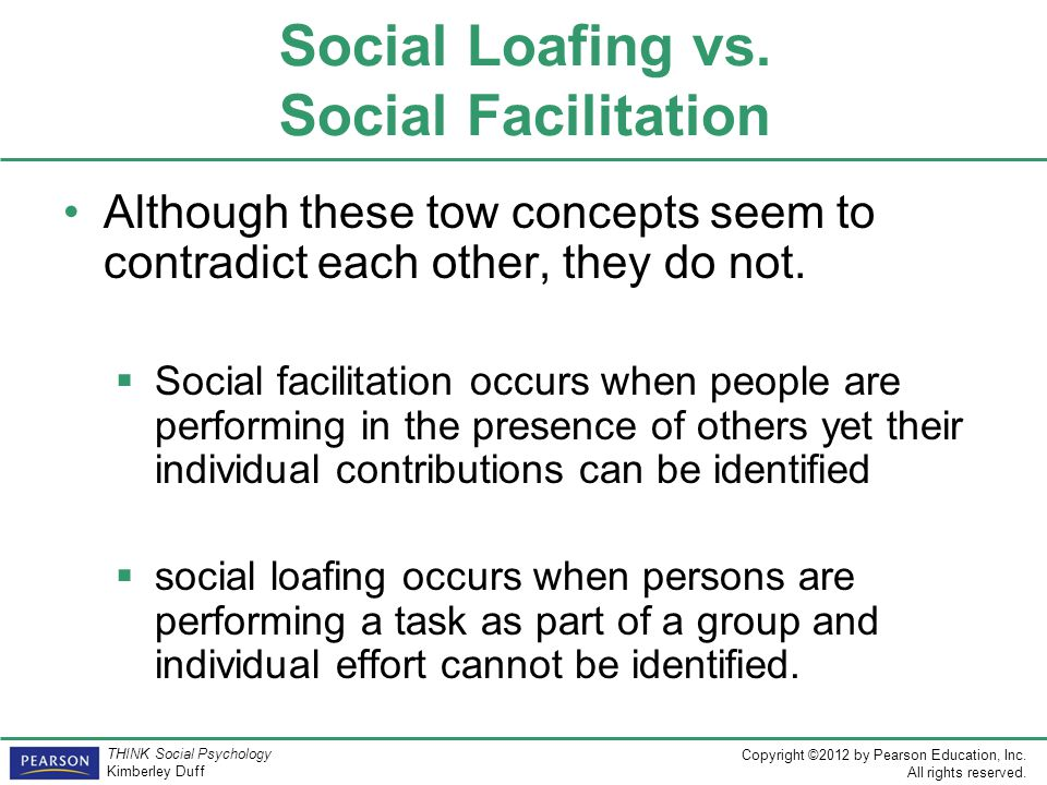Social Loafing vs. Social Facilitation