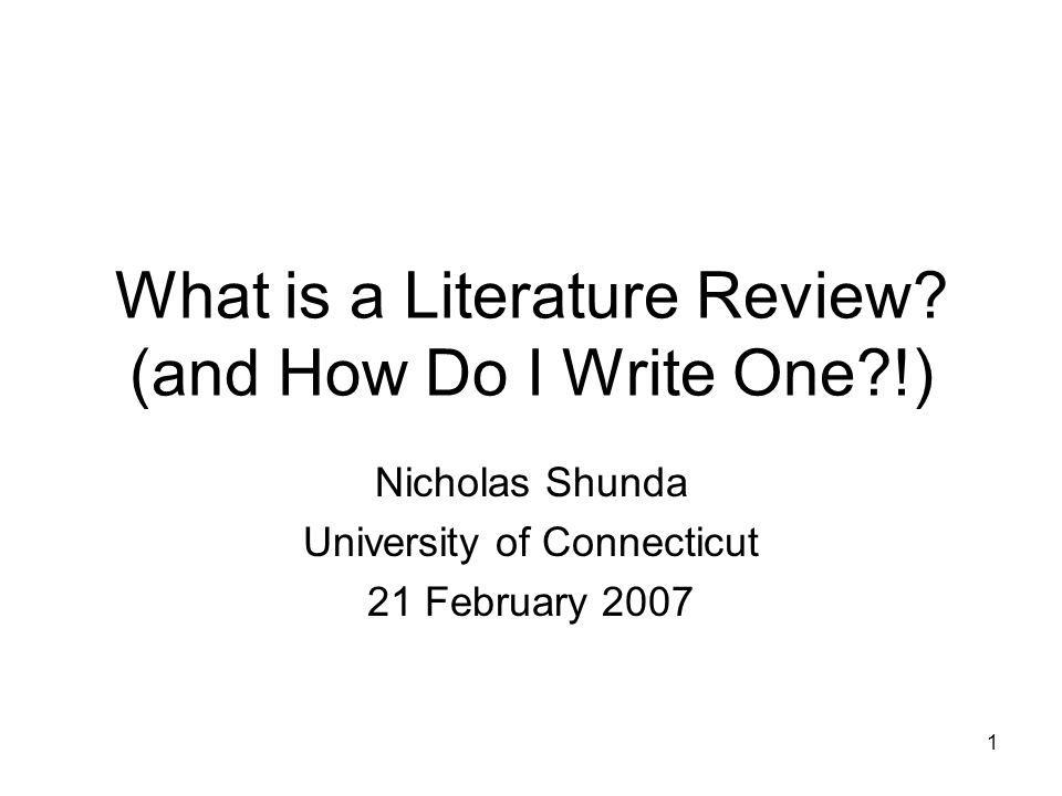What is a Literature Review (and How Do I Write One !)