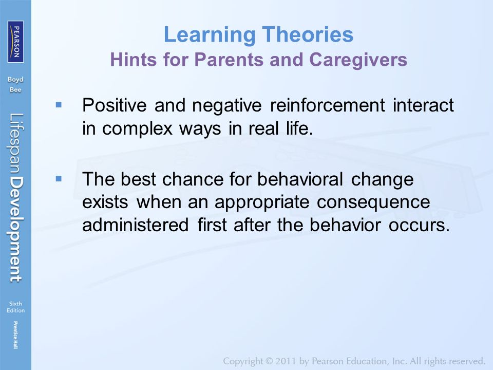 Learning Theories Hints for Parents and Caregivers