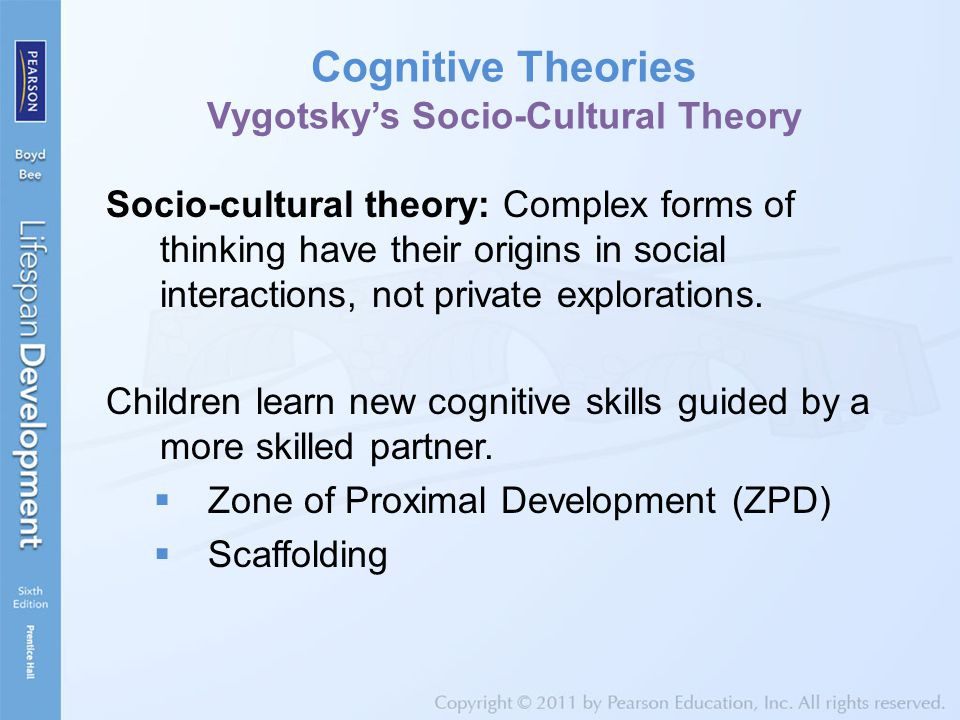 Cognitive Theories Vygotsky's Socio-Cultural Theory
