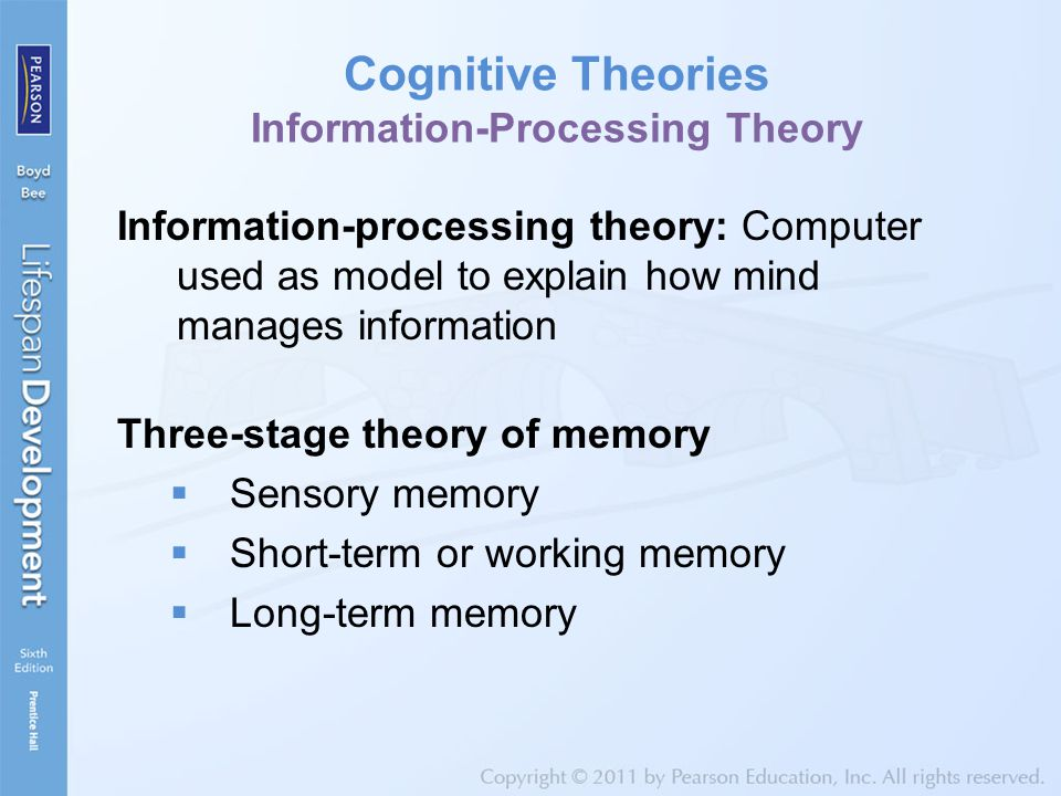 Cognitive Theories Information-Processing Theory