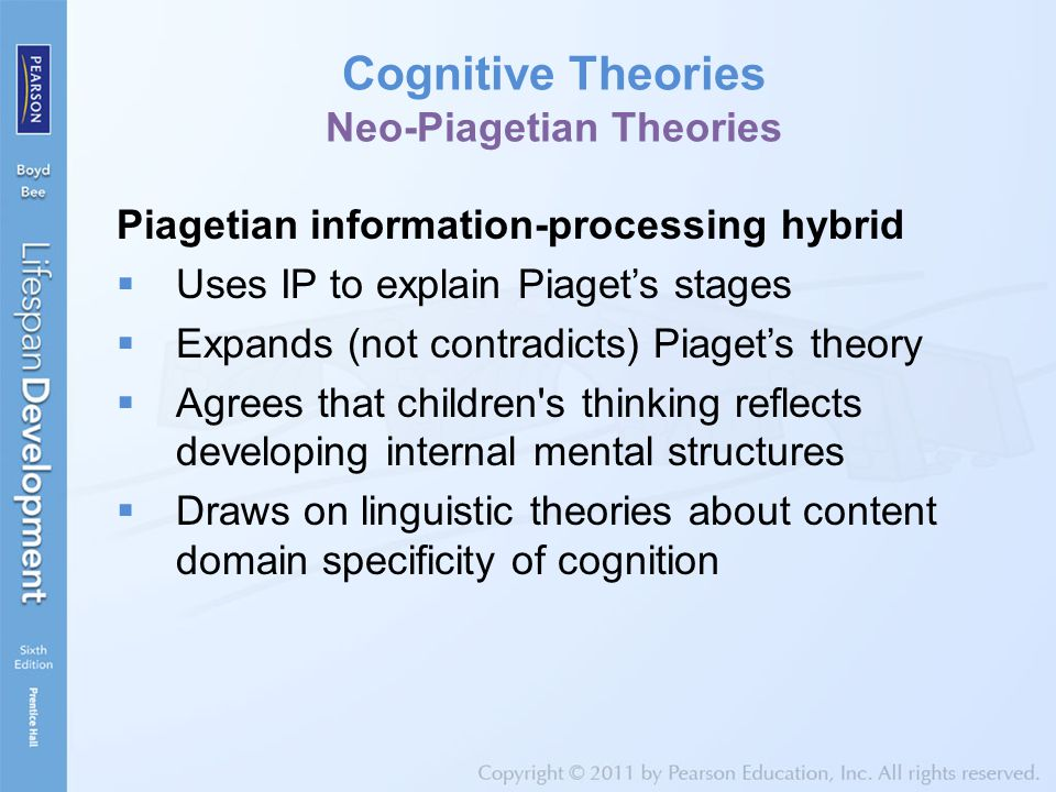 Cognitive Theories Neo-Piagetian Theories