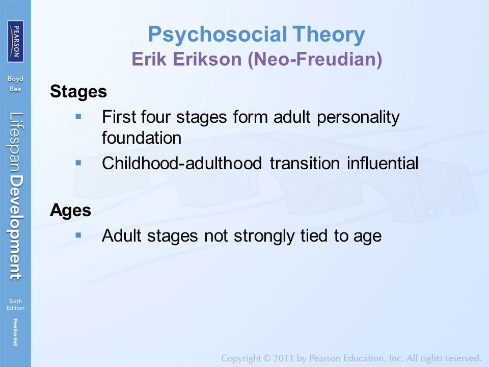 a discussion neo freudian erik eriksons theory Sigmund freud's psychosexual theory and erik erikson's psychosocial theory are  two well-known theories of development while he was.