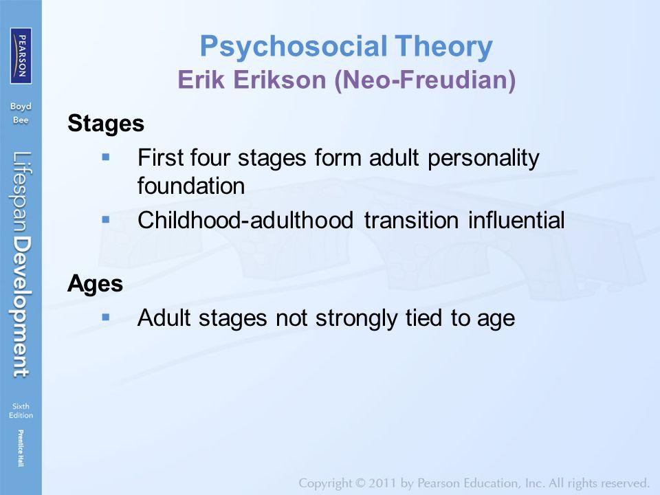Psychosocial Theory Erik Erikson (Neo-Freudian)