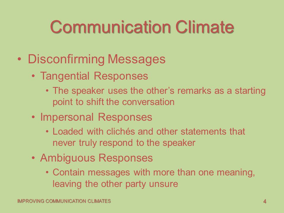 communication climates responses and dynamics Comm 330 communication climates, responses, and dynamics name comm 330 date professor communication climates, responses, and dynamics unlike.