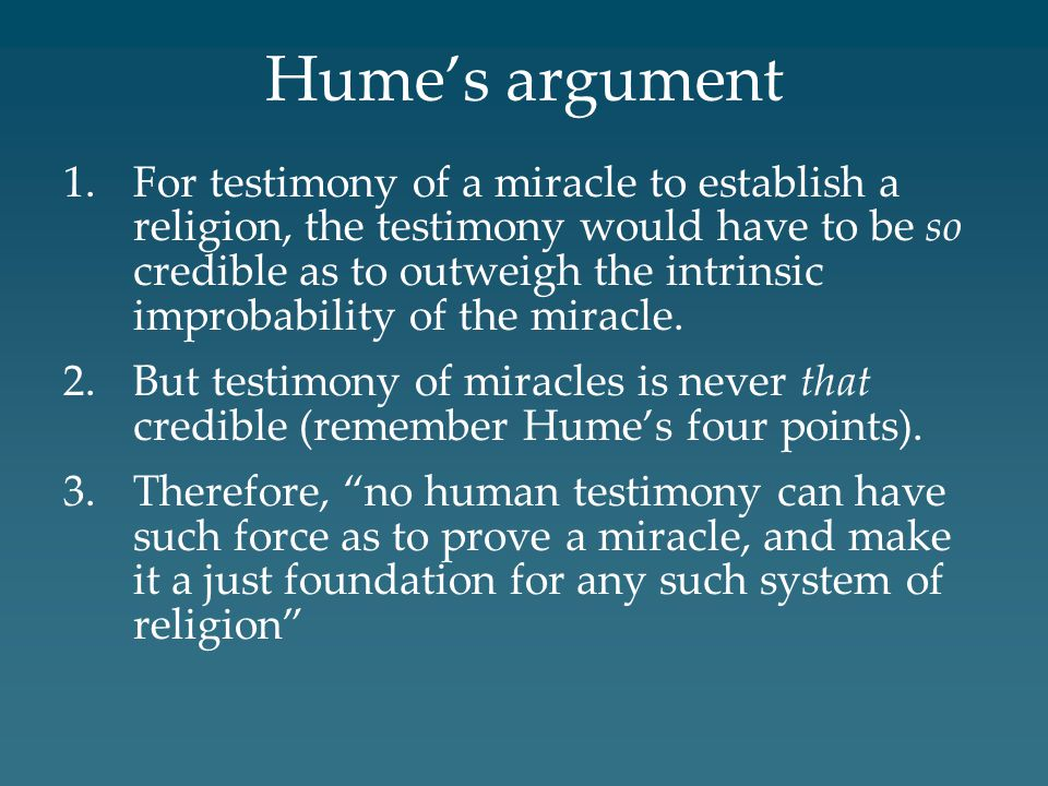 Hume's argument