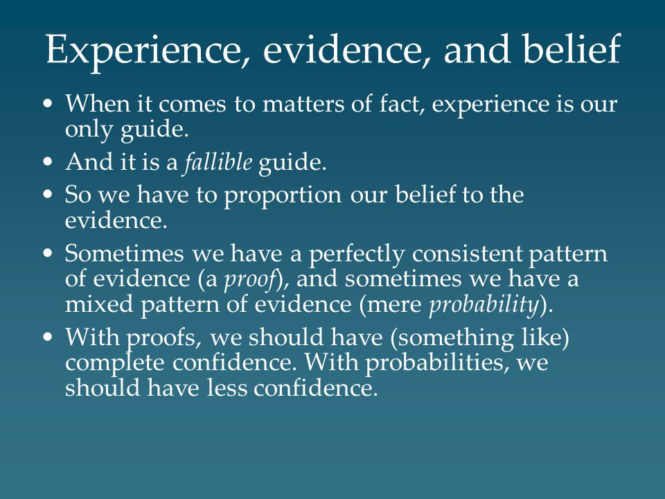 Experience, evidence, and belief