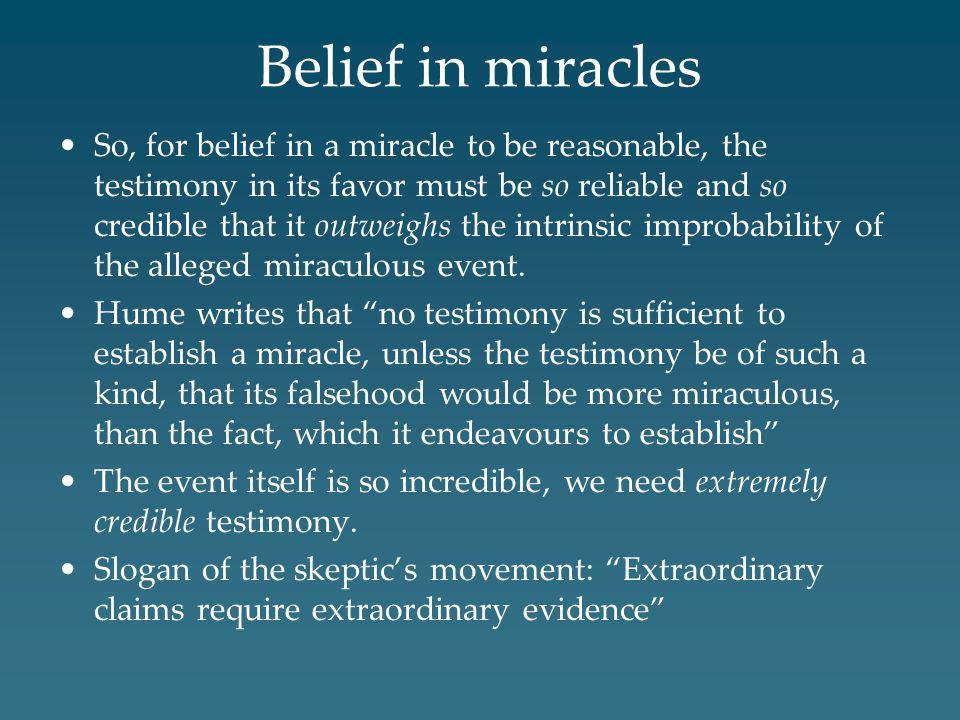 Belief in miracles