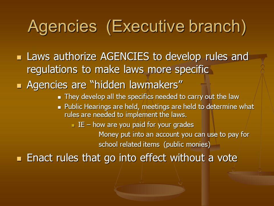 Agencies (Executive branch)