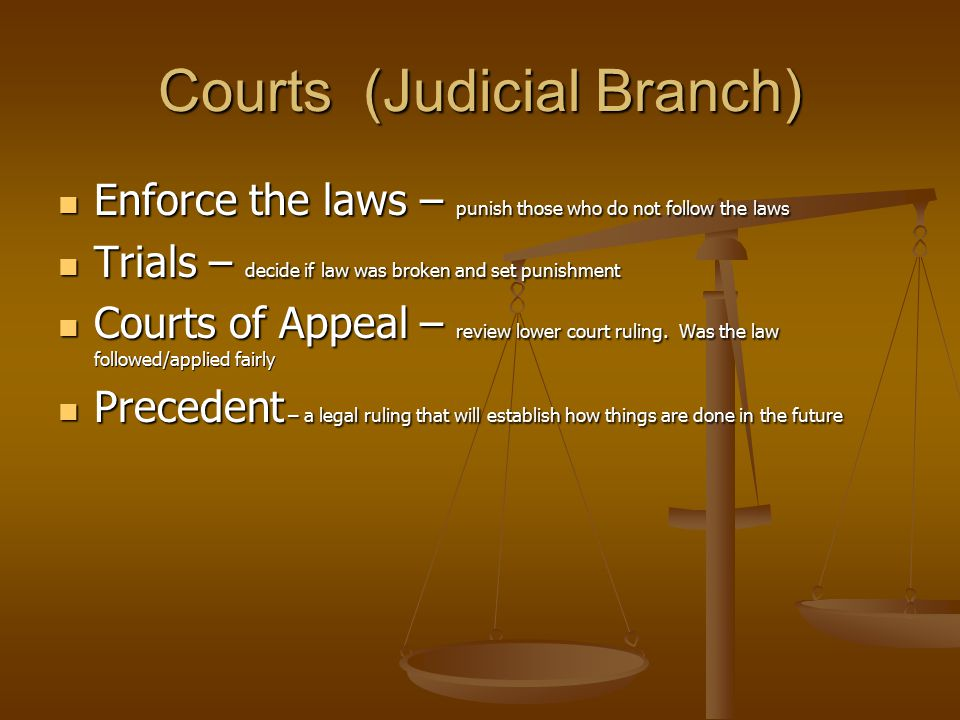 Courts (Judicial Branch)