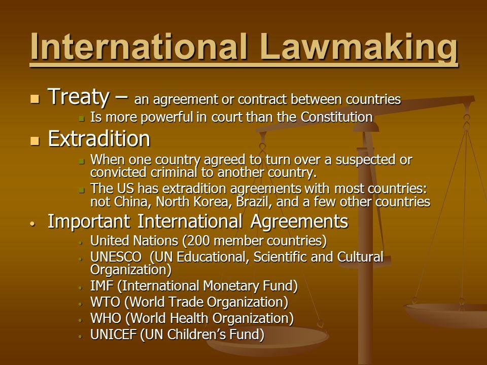 International Lawmaking