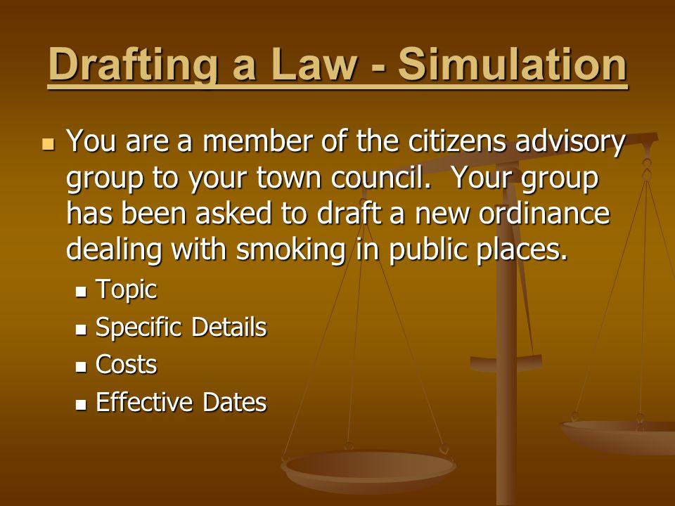 Drafting a Law - Simulation