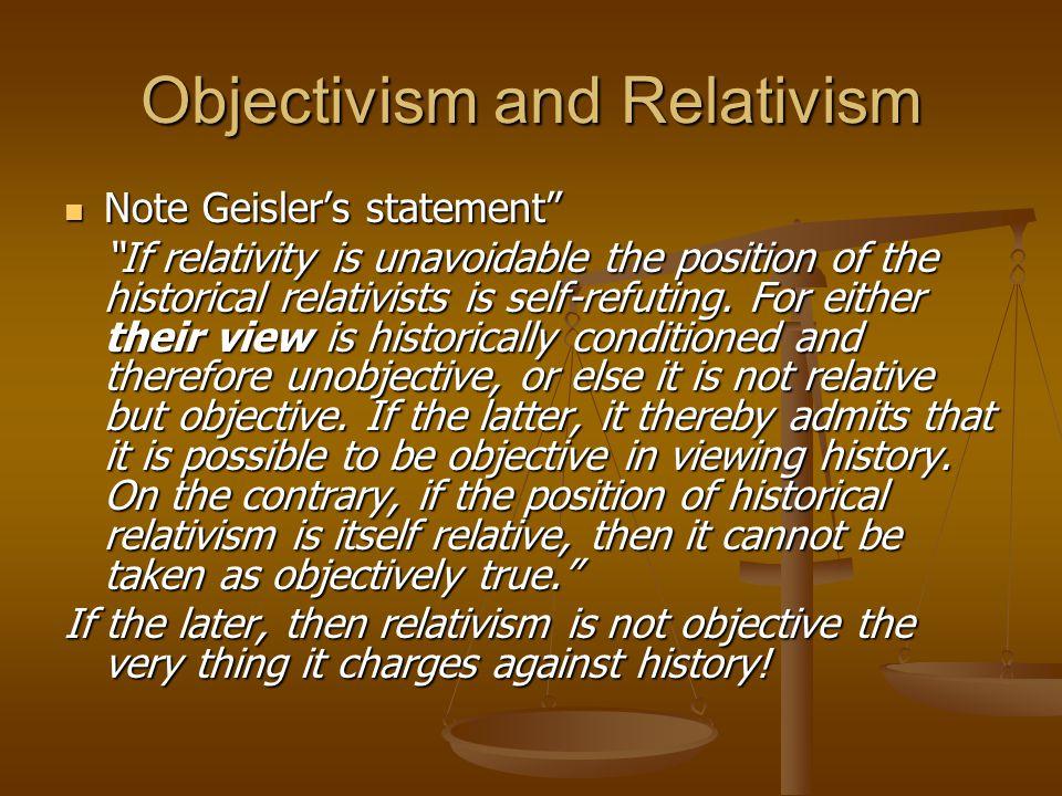 Objectivism and Relativism