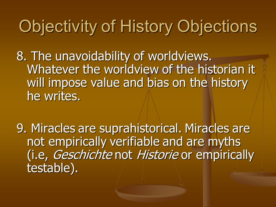 Objectivity of History Objections