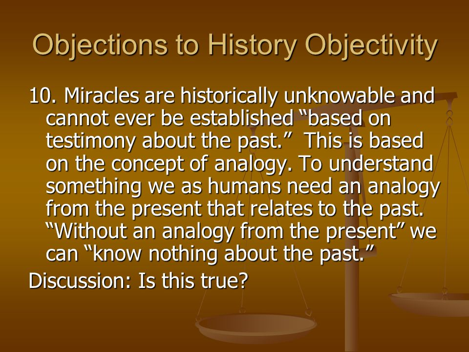 Objections to History Objectivity