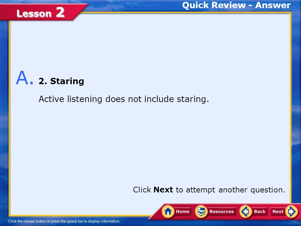 A. 2. Staring Quick Review - Answer