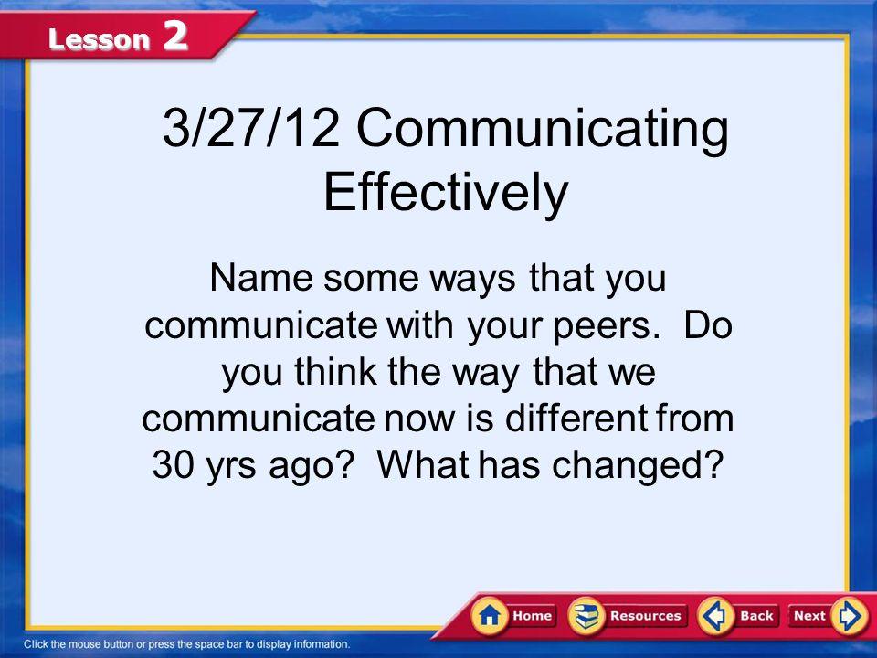 3/27/12 Communicating Effectively
