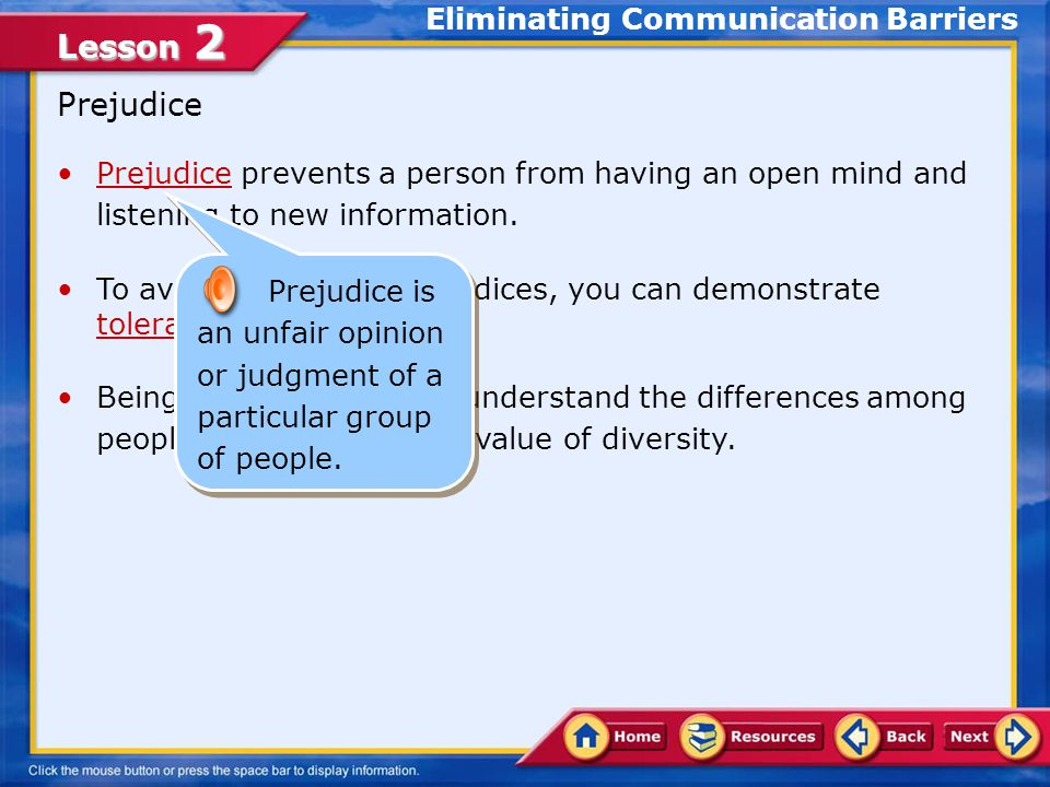 Eliminating Communication Barriers