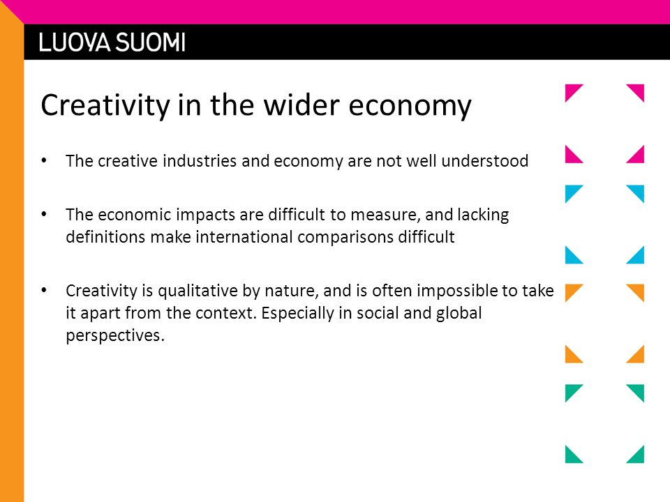 Creativity in the wider economy