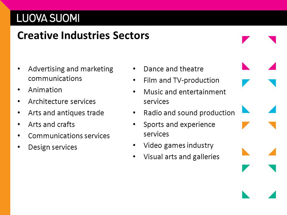 Creative Industries Sectors