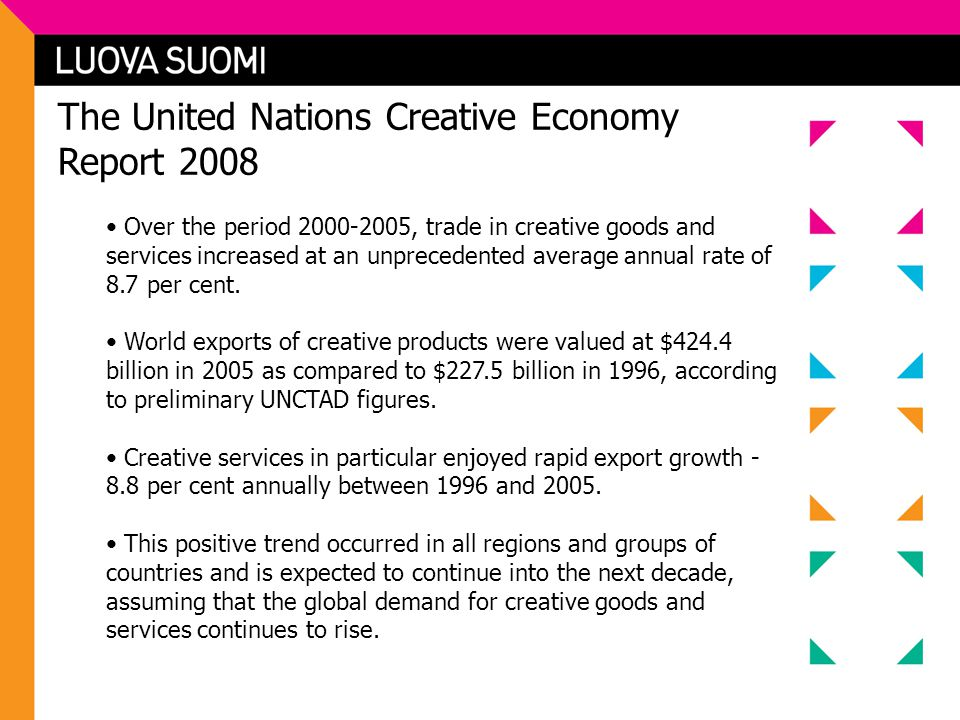 The United Nations Creative Economy Report 2008
