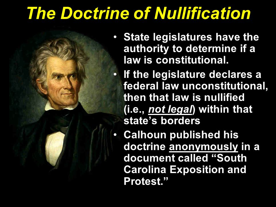 The Doctrine of Nullification
