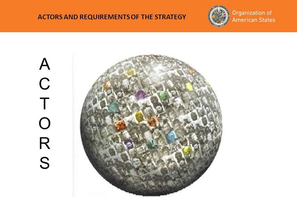 ACTORS AND REQUIREMENTS OF THE STRATEGY