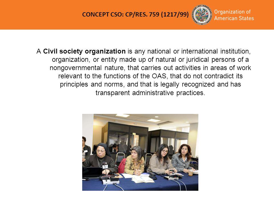 CONCEPT CSO: CP/RES. 759 (1217/99)
