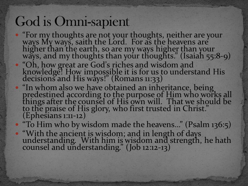 God is Omni-sapient