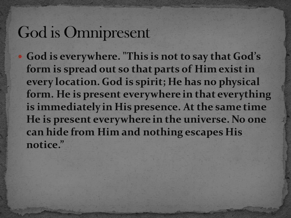 God is Omnipresent