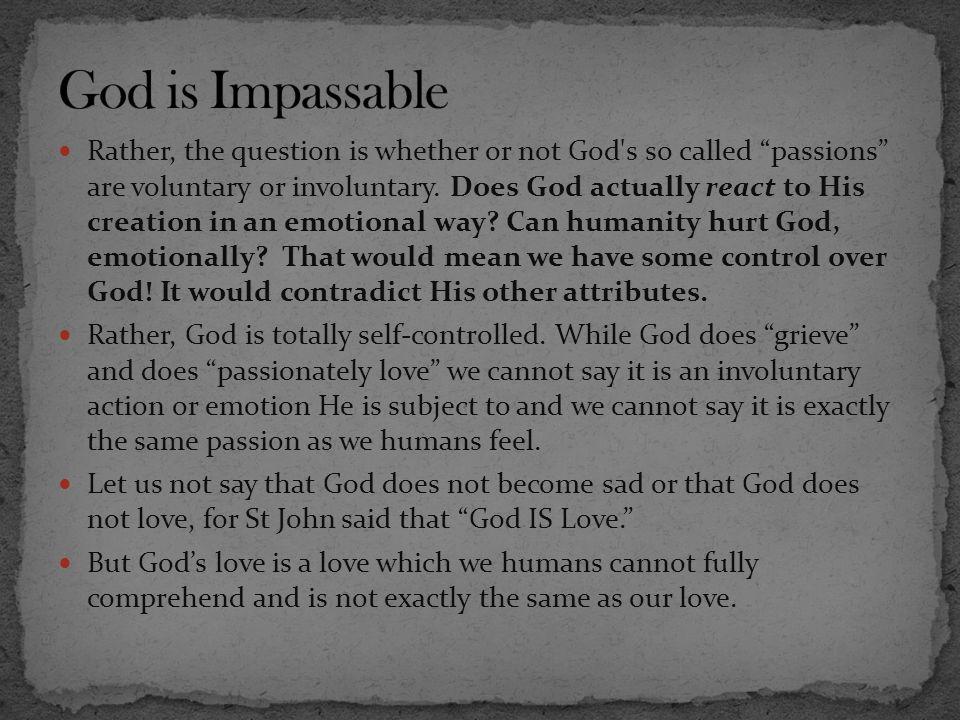 God is Impassable