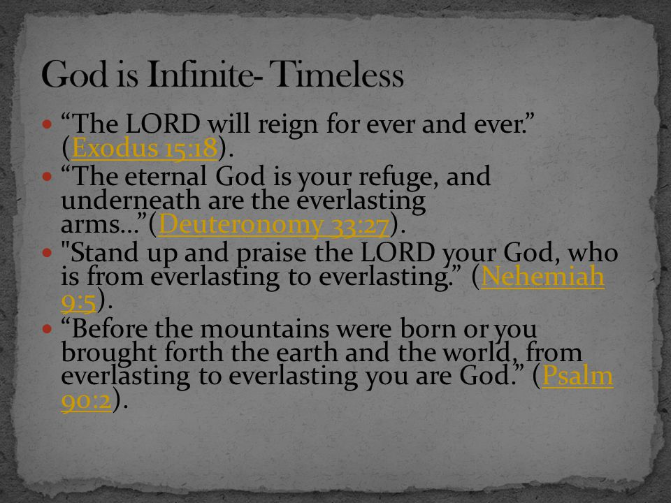 God is Infinite- Timeless