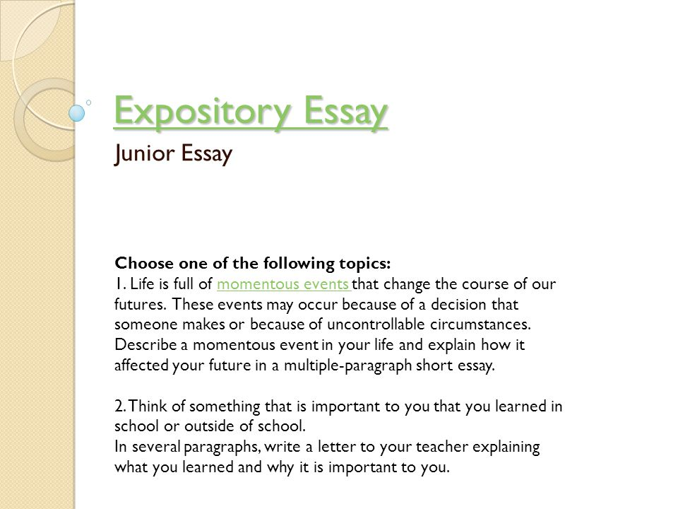 what makes an essay expository