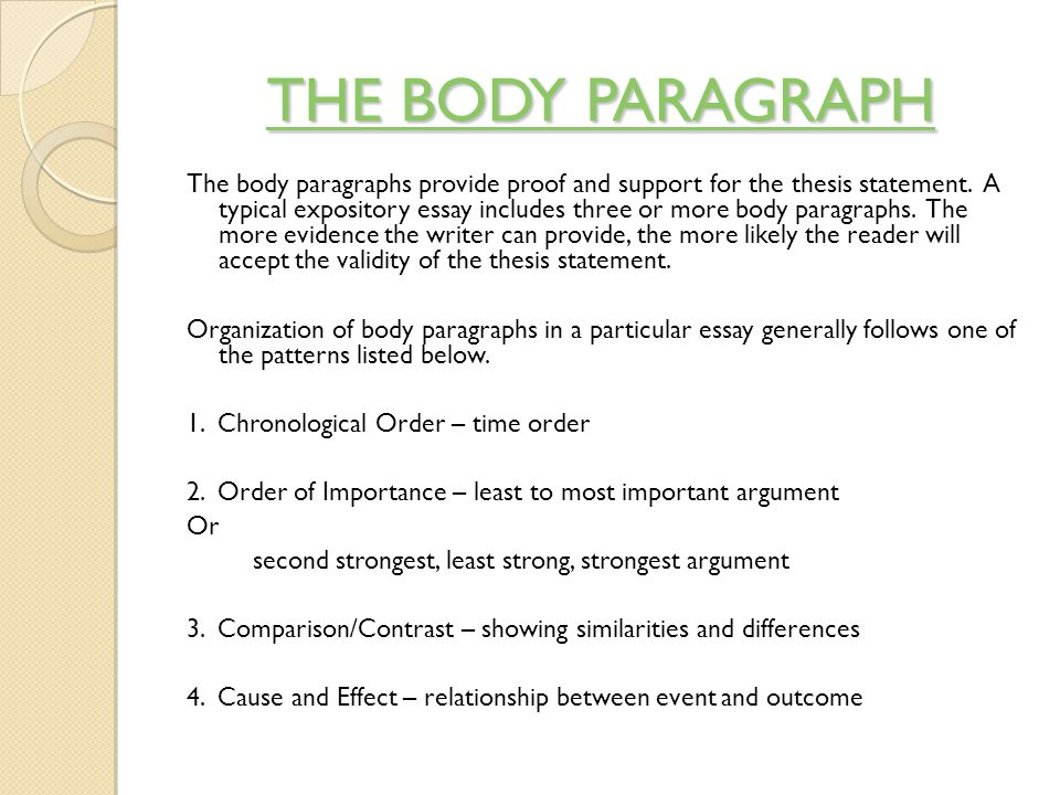 body paragraph thesis statement Five paragraph format usually includes an introduction with the powerful thesis statement in the last sentence, 3-5 body paragraphs (usually, it's three paragraphs), and conclusion body paragraphs should begin with the sentence which contains a powerful argument:.