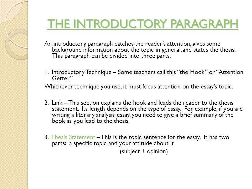 expository essay junior essay choose one of the following topics  6 the introductory paragraph