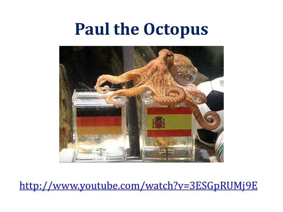 Paul the Octopus http://www.youtube.com/watch v=3ESGpRUMj9E