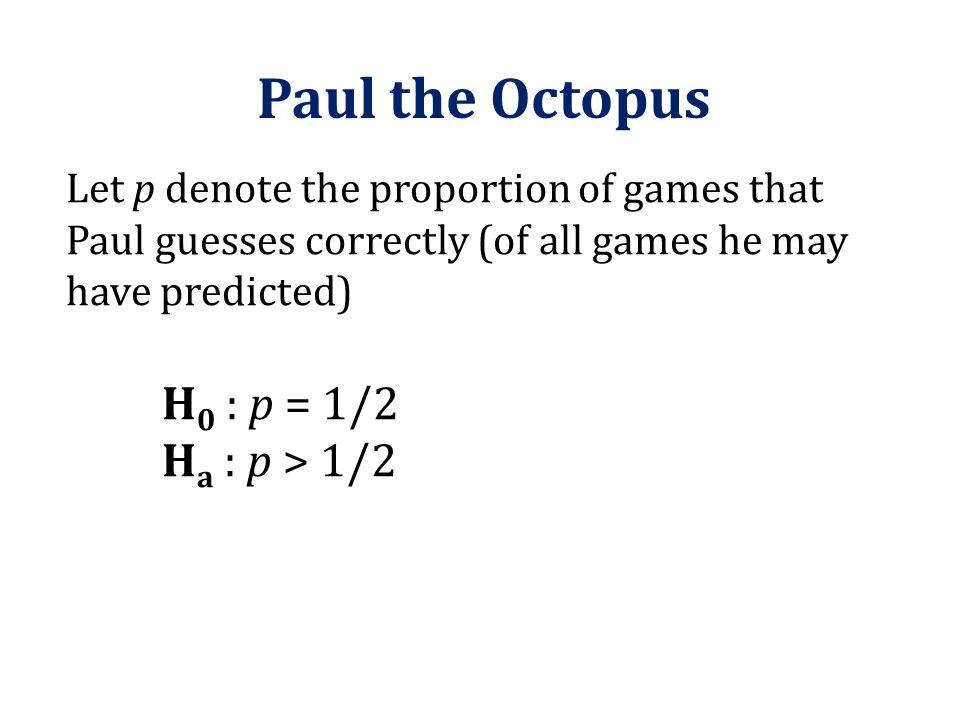 Paul the Octopus Ha : p > 1/2
