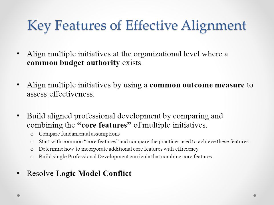 Key Features of Effective Alignment