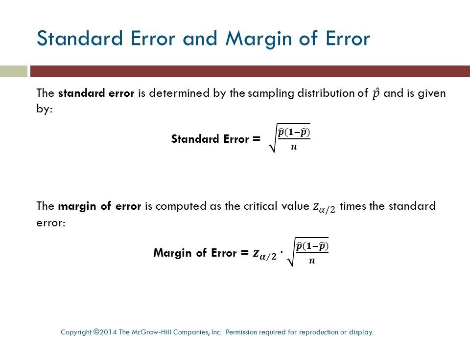 Standard Error and Margin of Error