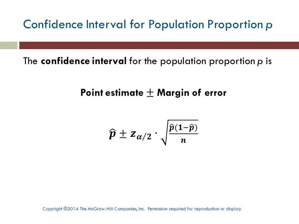 Confidence Interval for Population Proportion p