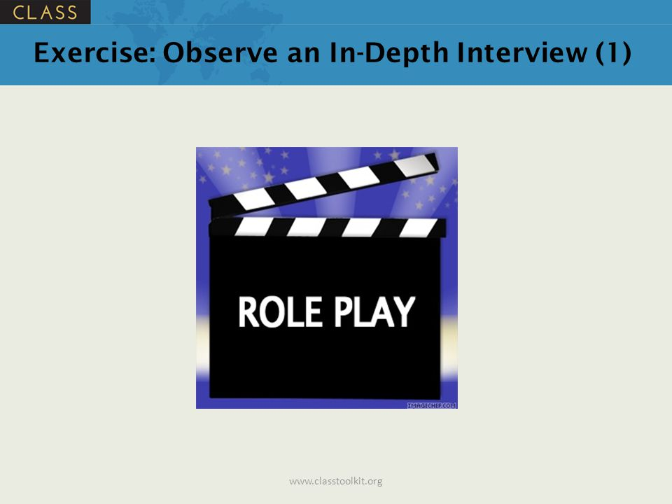 Exercise: Observe an In-Depth Interview (1)
