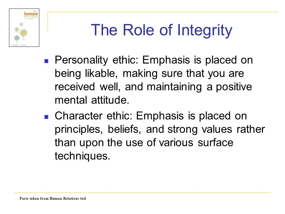 The Role of Integrity