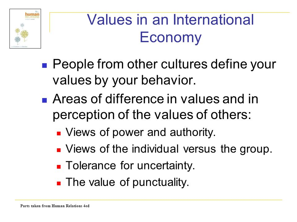 Values in an International Economy