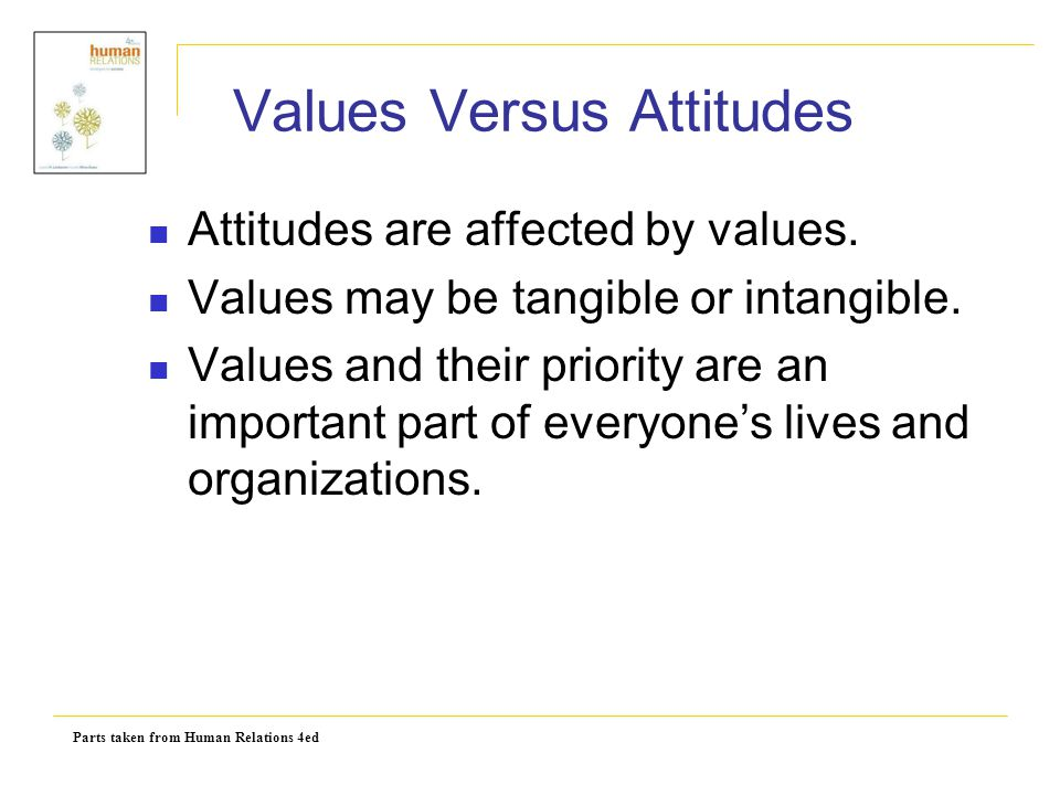 Values Versus Attitudes