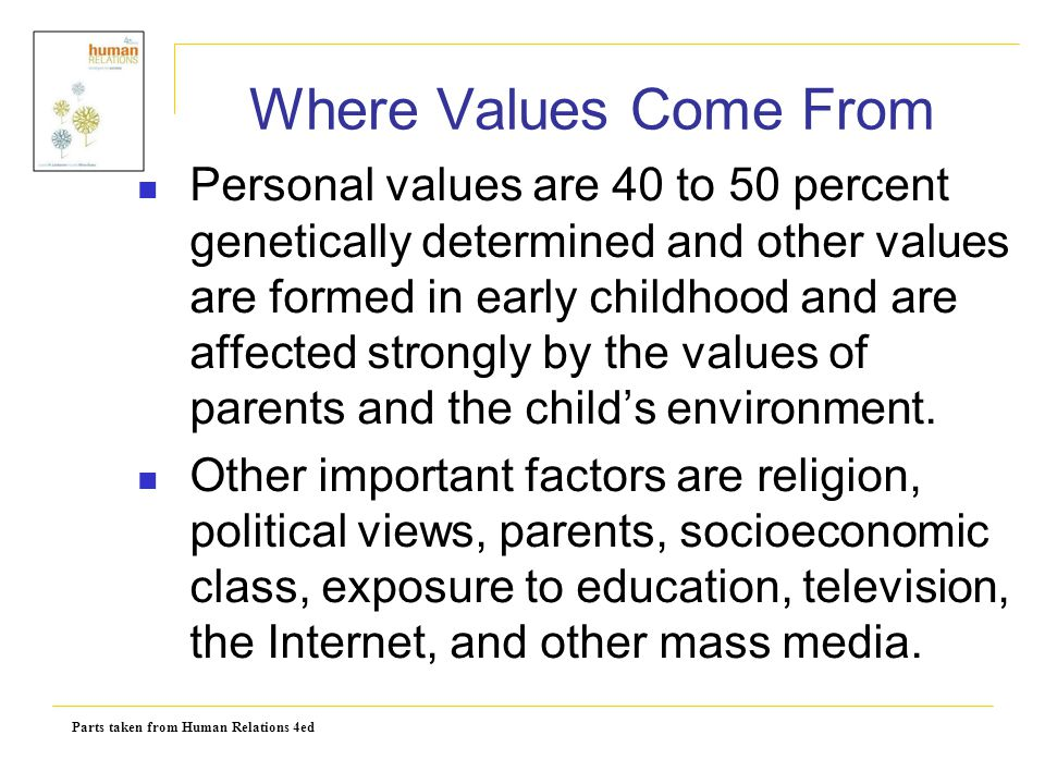 Where Values Come From