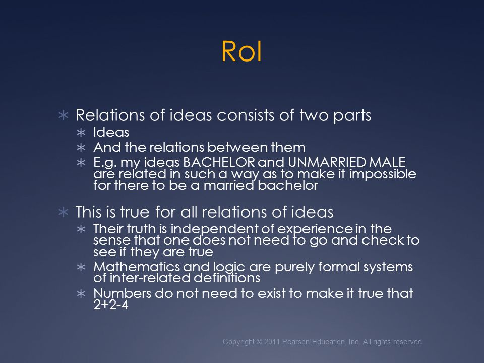 RoI Relations of ideas consists of two parts