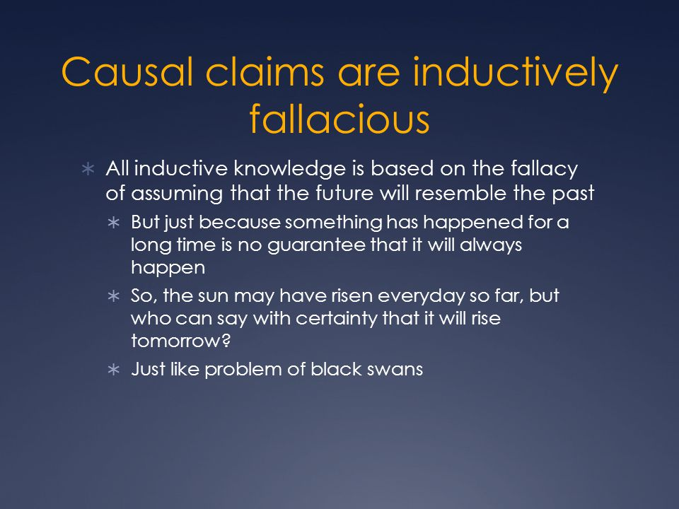 Causal claims are inductively fallacious