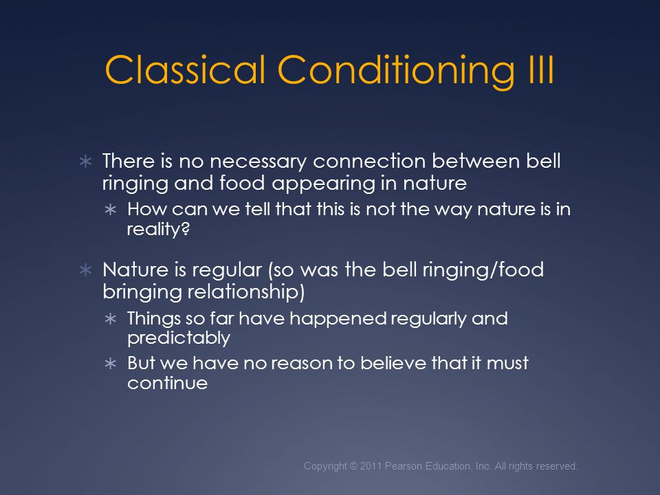 Classical Conditioning III