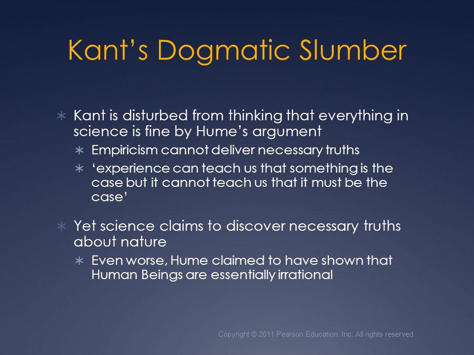 Kant's Dogmatic Slumber